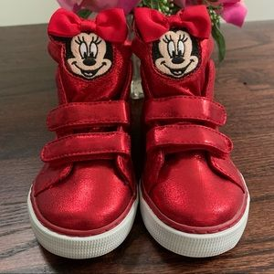 Gap Disney Minnie Mouse hi-top sneakers, size 9